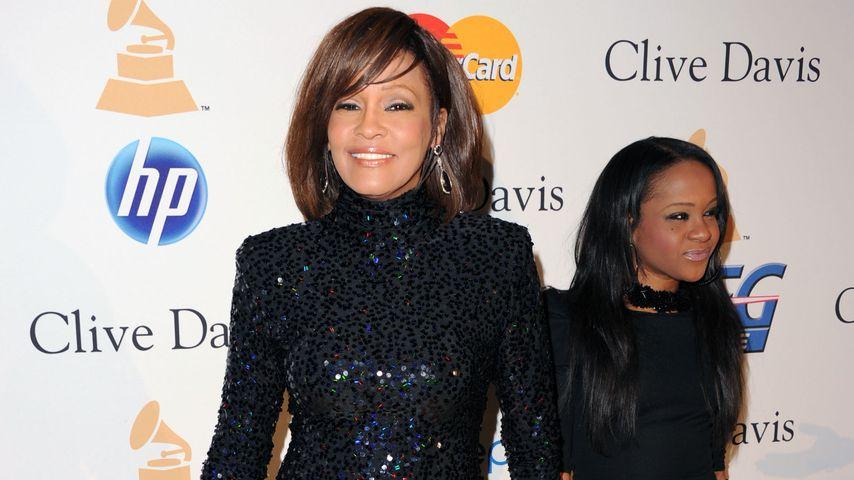 Whitney Houston und Bobbi Kristina bei einer Pre-Grammy-Gala