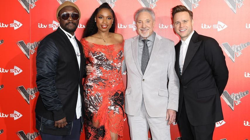 "Will.i.am, Jennifer Hudson, Tom Jones und Olly Murs bei einem ""The Voice""-Fototermin in London"