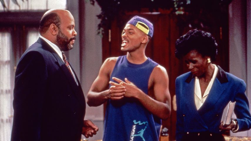 "Will Smith, James Avery und Janet Hubert in ""Der Prinz von Bel-Air"""