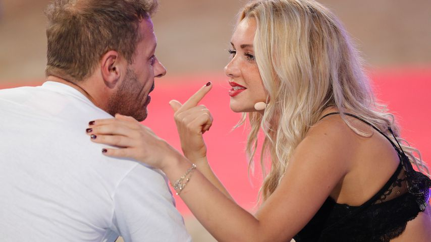 "Willi Herren und Evelyn Burdecki beim Finale von ""Promi Big Brother"" 2017"