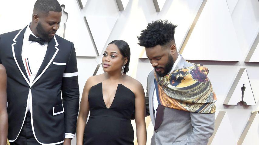 Winston Duke, Zinzi Evans und Ryan Coogler bei den Academy Awards 2019