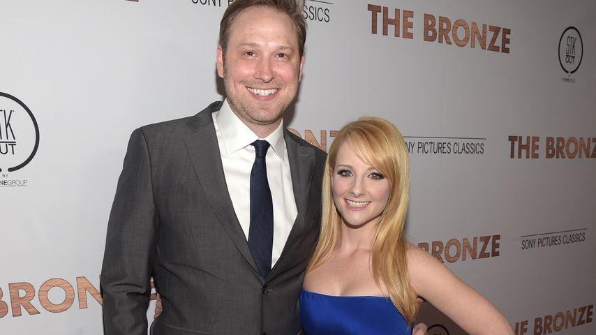 """Winston und Melissa Rauch bei der Premiere von """"The Bronze"""" in Los Angeles 2016"""