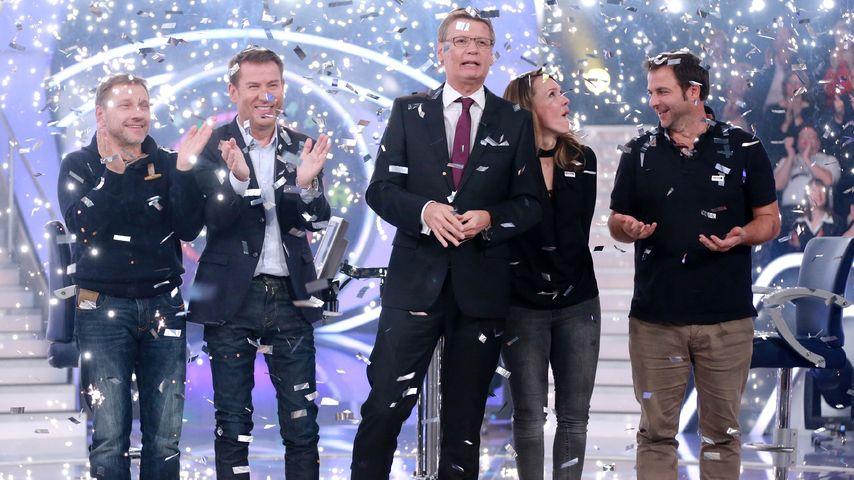 Günther Jauch, Carolin Kebekus, Richy Müller und Martin Rütter