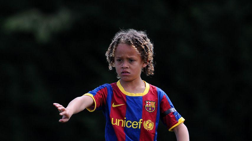 Xavi Simons mit acht Jahren bei einem Fußballspiel, Mai 2011
