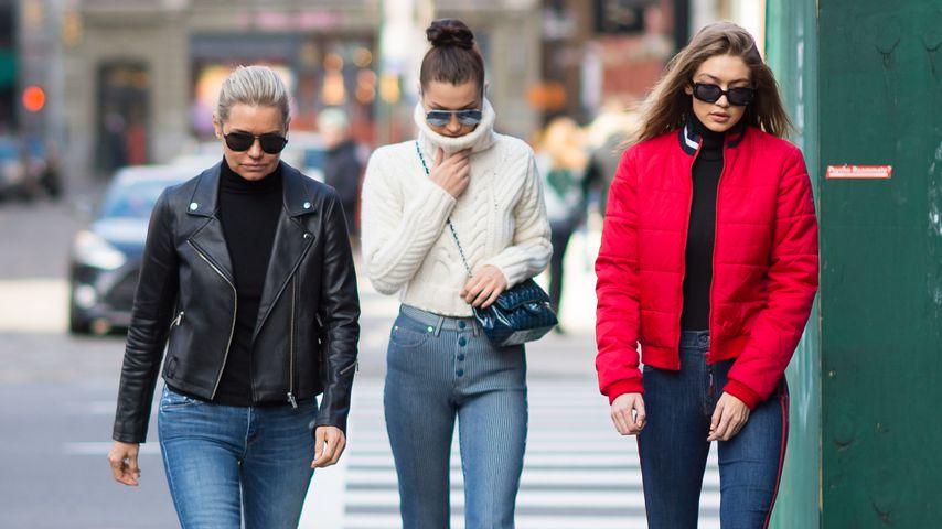 Yolanda, Bella und Gigi Hadid bei einem Ausflug in New York 2017