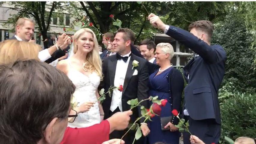 """Hochzeit mit Pannen-Start: Yvonne Woelke hat """"ja"""" gesagt!"""