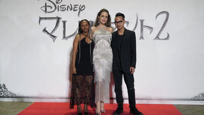 Zahara Jolie-Pitt, Angelina Jolie und Maddox Jolie-Pitt