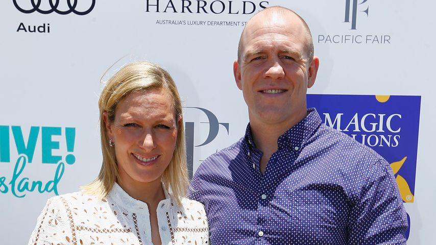 Zara Phillips und Mike Tindall in Australien