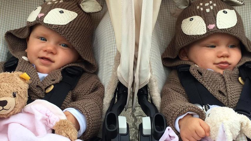 Wie süß! Christian Tews' Zwillinge entzücken im Eulen-Look