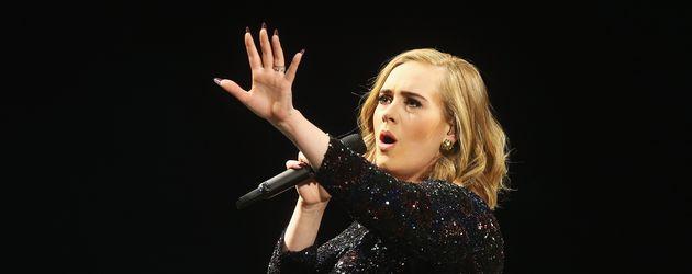 Adele auf einem Konzert in Hamburg