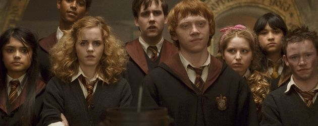 "Emma Watson mit ihren Co-Stars in ""Harry Potter"""
