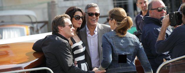 Cindy Crawford, George Clooney, Amal Alamuddin und Rande Gerber