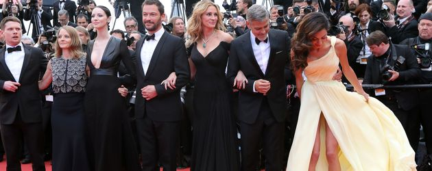 George Clooney, Amal Alamuddin und Julia Roberts