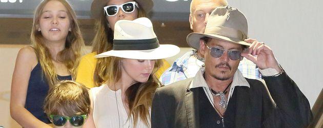 Amber Heard, Johnny Depp, Lily-Rose Depp und Jack Depp