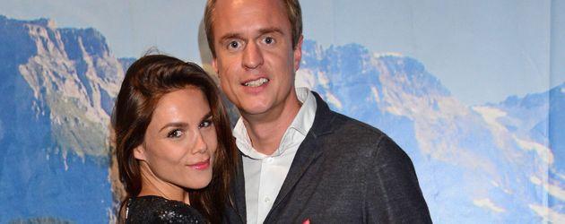 Angelina und Alexander Posth auf einer Party in Berlin