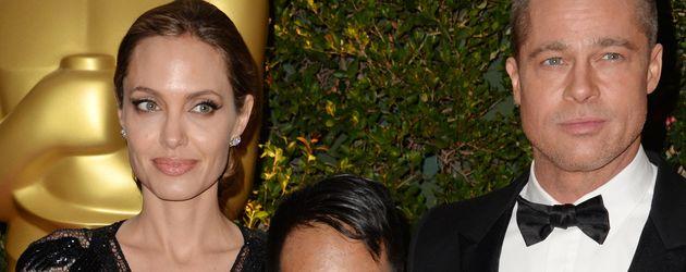 Angelina Jolie und Brad Pitt mit Sohn Maddox im Jahr 2013