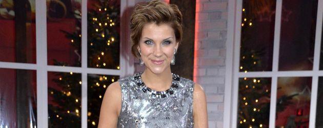 Anna-Maria Zimmermann bei einer TV-Aufzeichnung