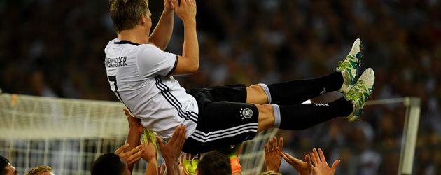 Bastian Schweinsteiger nach seinem letzten Länderspiel
