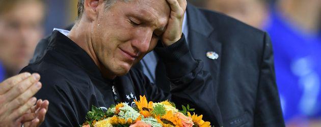 Bastian Schweinsteiger vor seinem Abschiedsspiel