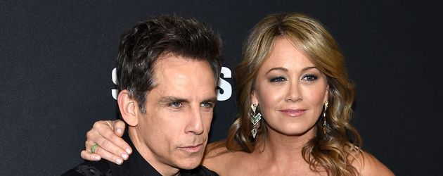 Ben Stiller und Christine Taylor im Februar 2016 bei einer Filmpremiere in New York