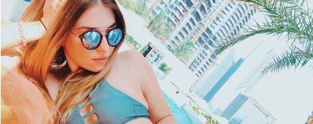 Bibi Heinicke im Urlaub in Dubai
