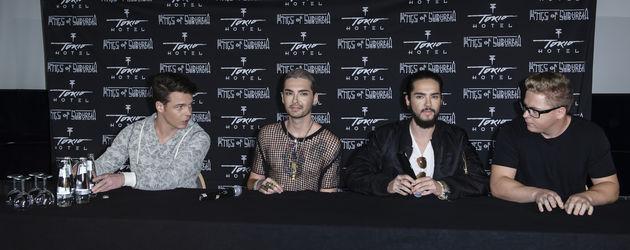 Bill Kaulitz, Tom Kaulitz, Gustav Schäfer und Georg Listing