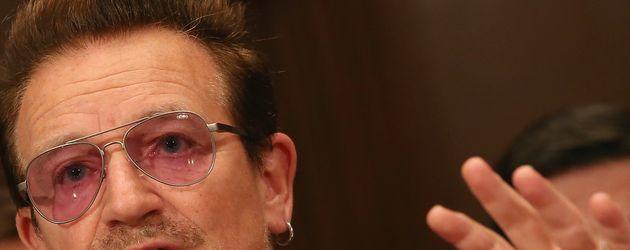 Bono bei einer Rede gegen Gewalt in Washington