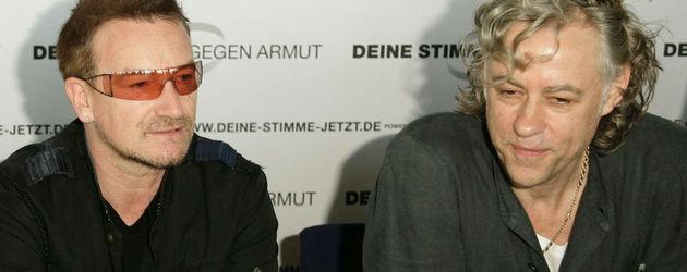 Bob Geldof und Bono