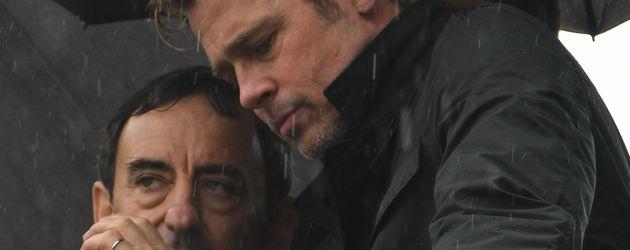 Brad Pitt im Regen