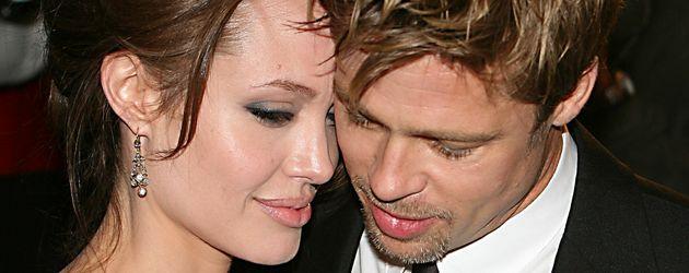 Brad Pitt und Angelina Jolie in NYC im Jahr 2006