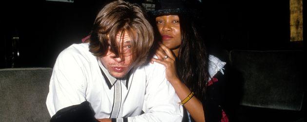 Brad Pitt und Roben Givens in Los Angeles (um 1989)