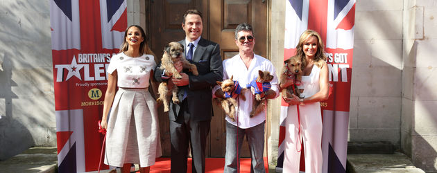 Simon Cowell, Alesha Dixon, Amanda Holden und David Walliams