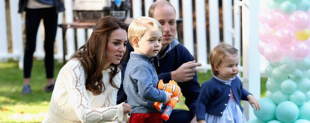 Prinz George, Herzogin Kate, Prinz William und Prinzessin Charlotte