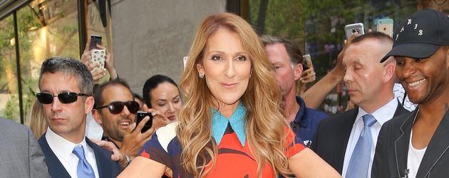 Celine Dion vor den NBC-Studios in New York