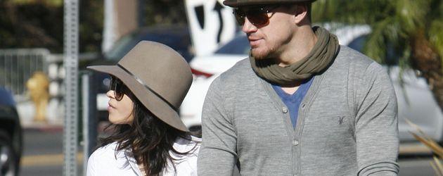 Channing Tatum und Jenna Dewan mit ihrem Kind
