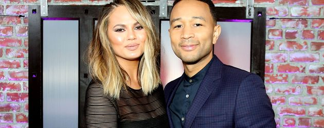 Chrissy Teigen und Ehemann John Legend bei einer TV-Aufzeichnung in Hollywood