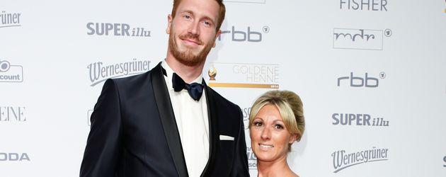 Christoph Harting mit Ehefrau Nancy bei einer Preisverleihung