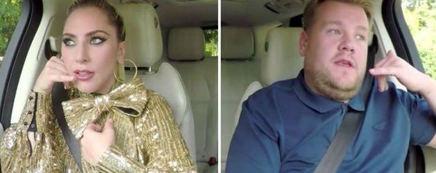 Lady Gaga und Jamie Corden während ihres Carpool-Karaoke