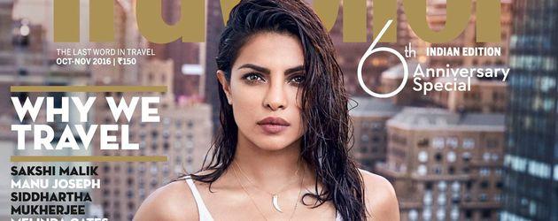 """Schauspielerin Priyanka Chopra auf dem Cover von """"Condé Nast Traveller"""""""