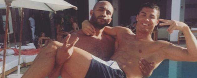 Cristiano Ronaldo und der Boxer Badr Hari