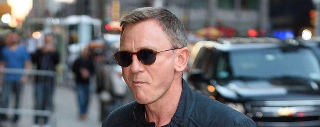 Daniel Craig auf dem Weg zur Late Night Show mit Stephen Colbert in New York