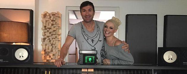 Daniela Katzenberger und Lucas Cordalis im Tonstudio