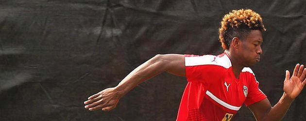 David Alaba beim Training