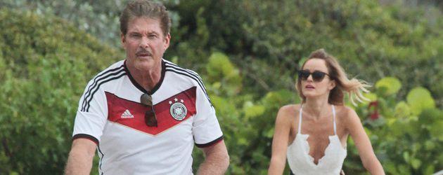 David Hasselhoff und seine Verlobte Hayley Roberts in Miami
