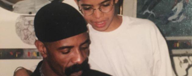 Dennis Graham und sein Sohn Drake mit 11 Jahren