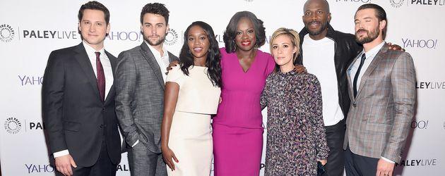 """Der Cast von """"How to Get Away with Murder"""" bei einem Pressetermin im November 2015 in New York"""
