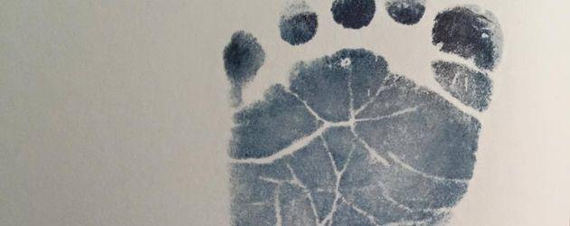 Fußabdruck von Christina Stürmers Baby