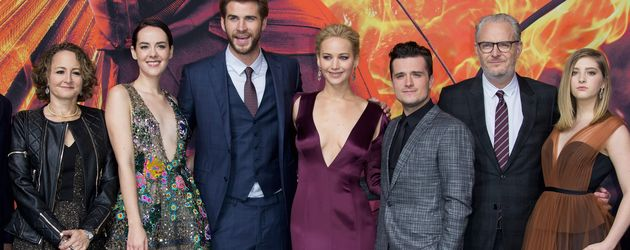 Liam Hemsworth, Hunger Games, Jennifer Lawrence, Jena Malone, Josh Hutcherson, Willow Shields und Fr