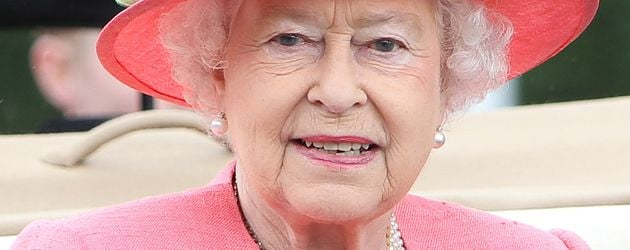 Die Queen in pink