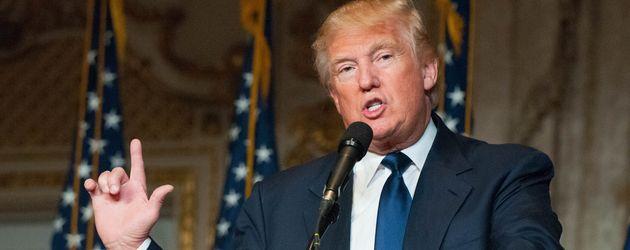 Donald Trump im März 2016 bei einer Wahlkampfveranstaltung in Palm Beach